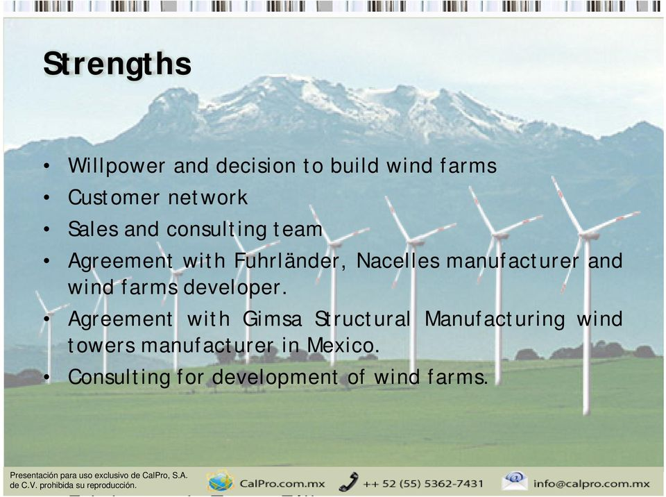 manufacturer and wind farms developer.