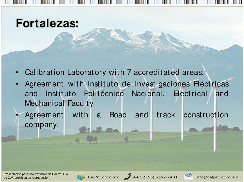 Agreement with Instituto de Investigaciones Eléctricas and