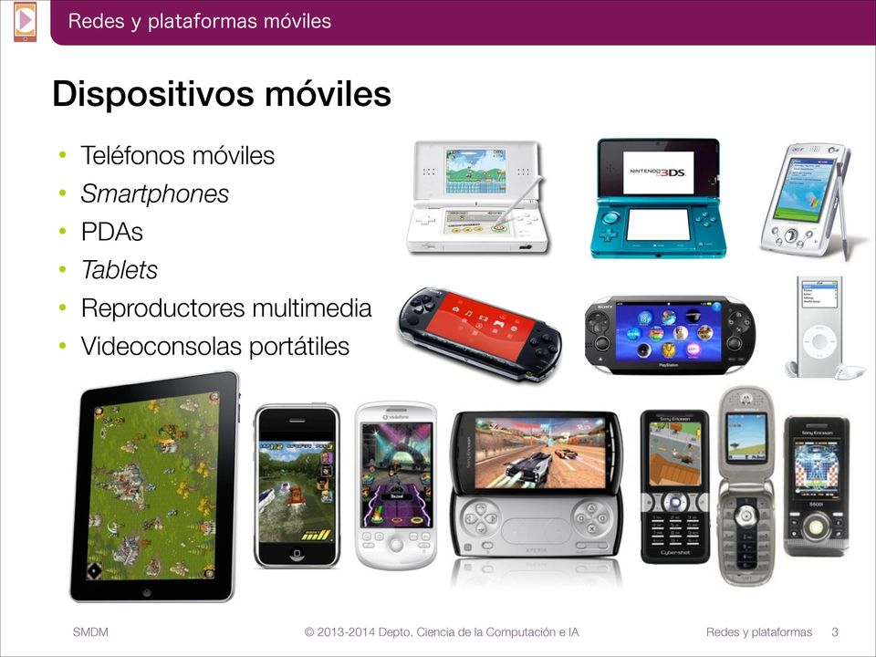 Smartphones PDAs Tablets