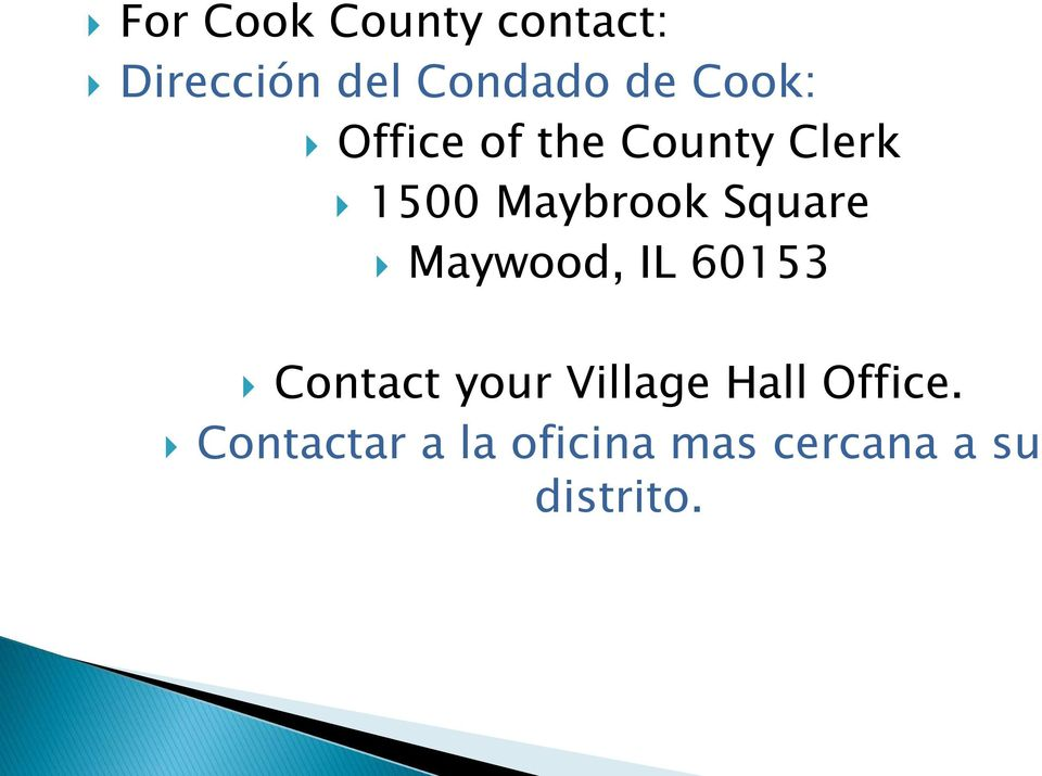 Square Maywood, IL 60153 Contact your Village Hall