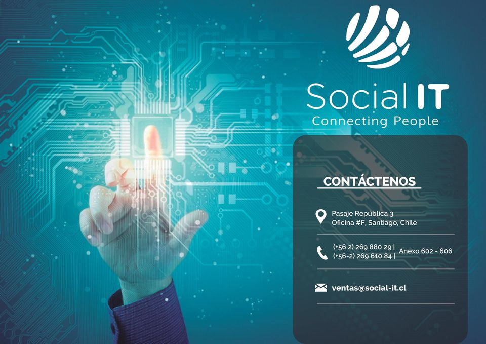 ventas@social-it.cl Social It. spa - www.social-it.cl - info@social-it.