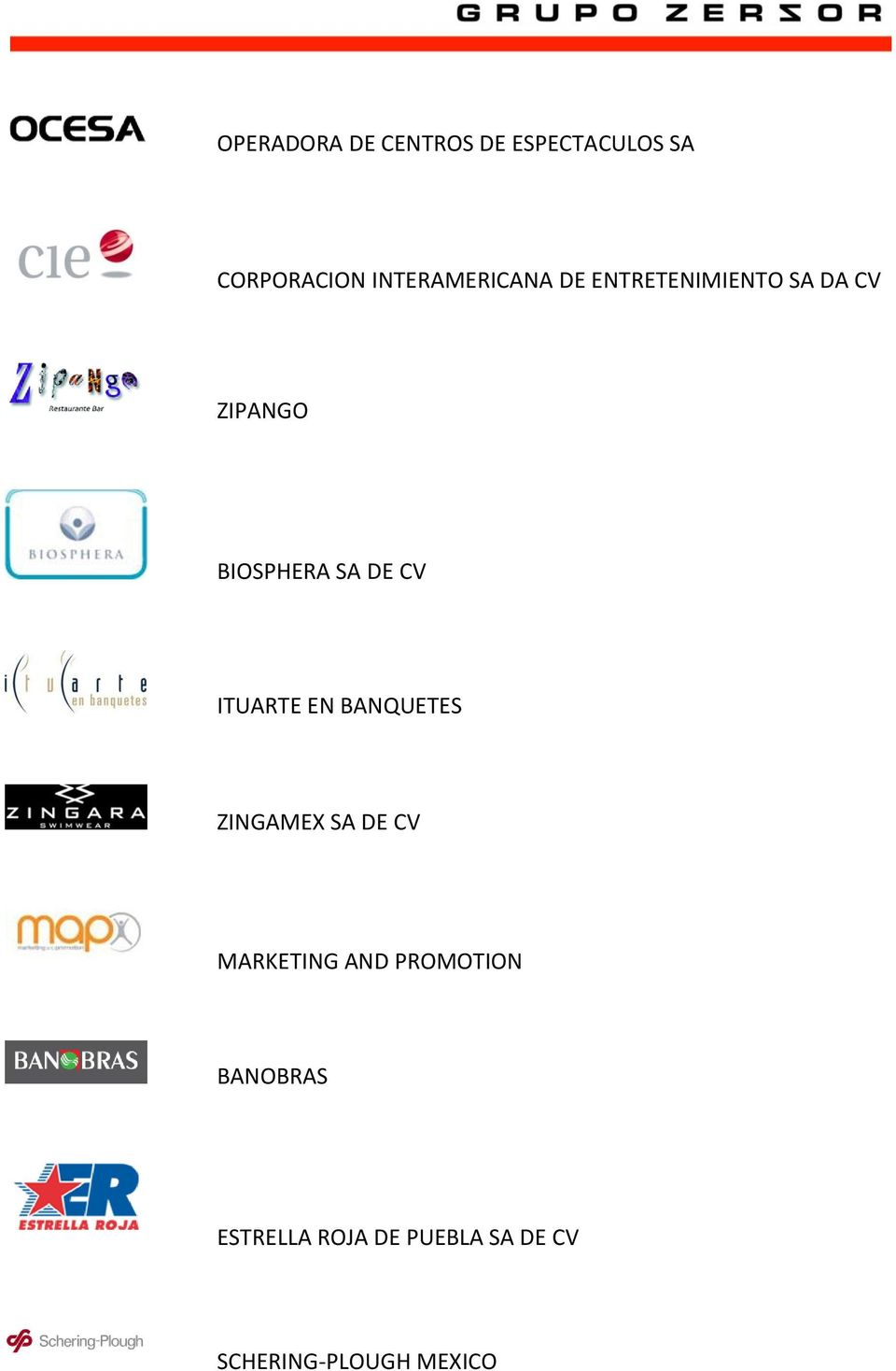 SA DE CV ITUARTE EN BANQUETES ZINGAMEX SA DE CV MARKETING AND