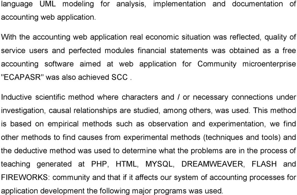 "application for Community microenterprise ""ECAPASR"" was also achieved SCC."