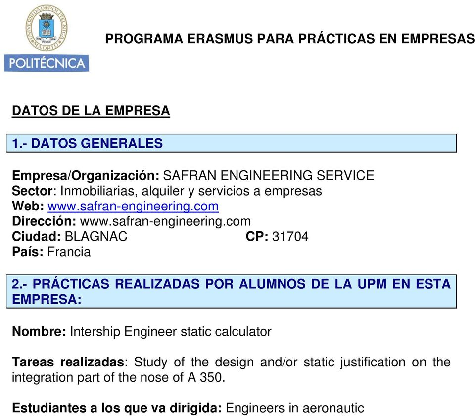 com Dirección: www.safran-engineering.
