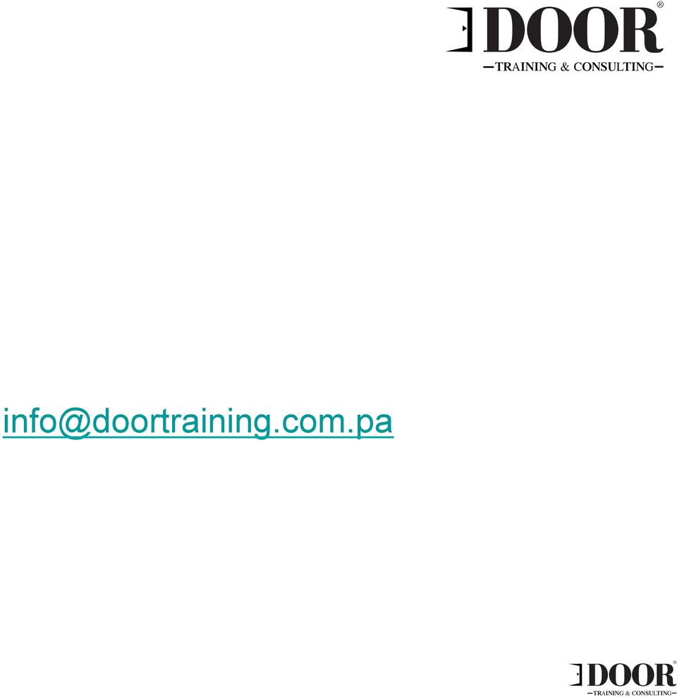 Para mayor información favor solicitarla a: info@doortraining.com.