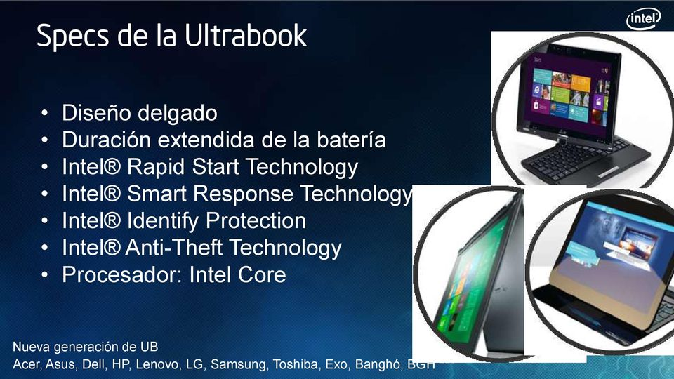 Protection Intel Anti-Theft Technology Procesador: Intel Core Nueva