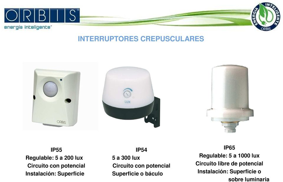 con potencial Superficie o báculo IP65 Regulable: 5 a 1000 lux