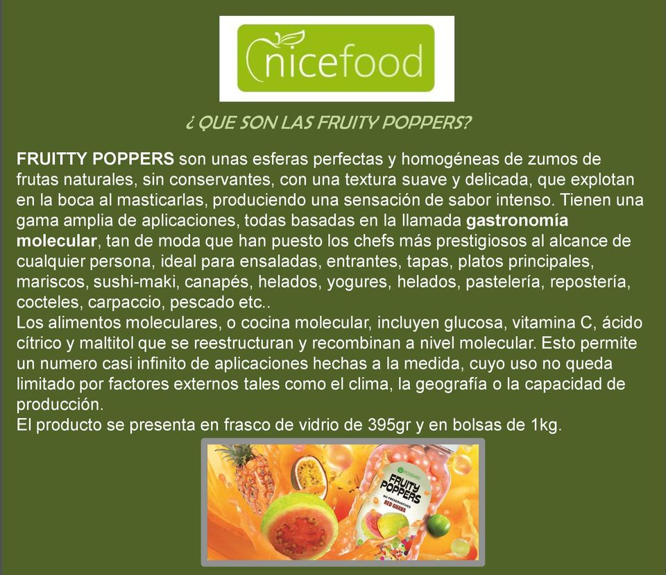 24 99 fruity poppers iva incl pdf for Gastronomia molecular pdf