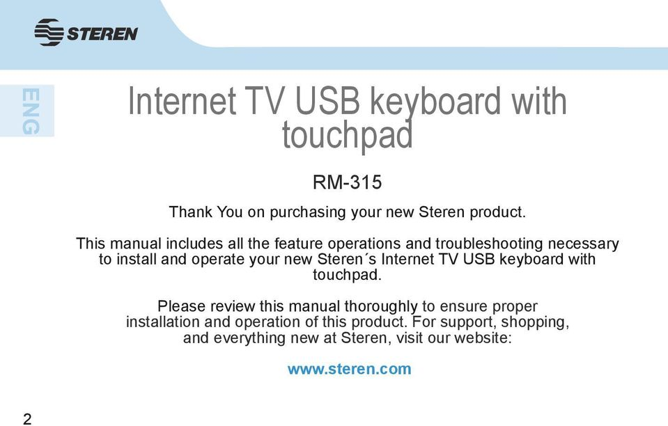 Steren s Internet TV USB keyboard with touchpad.