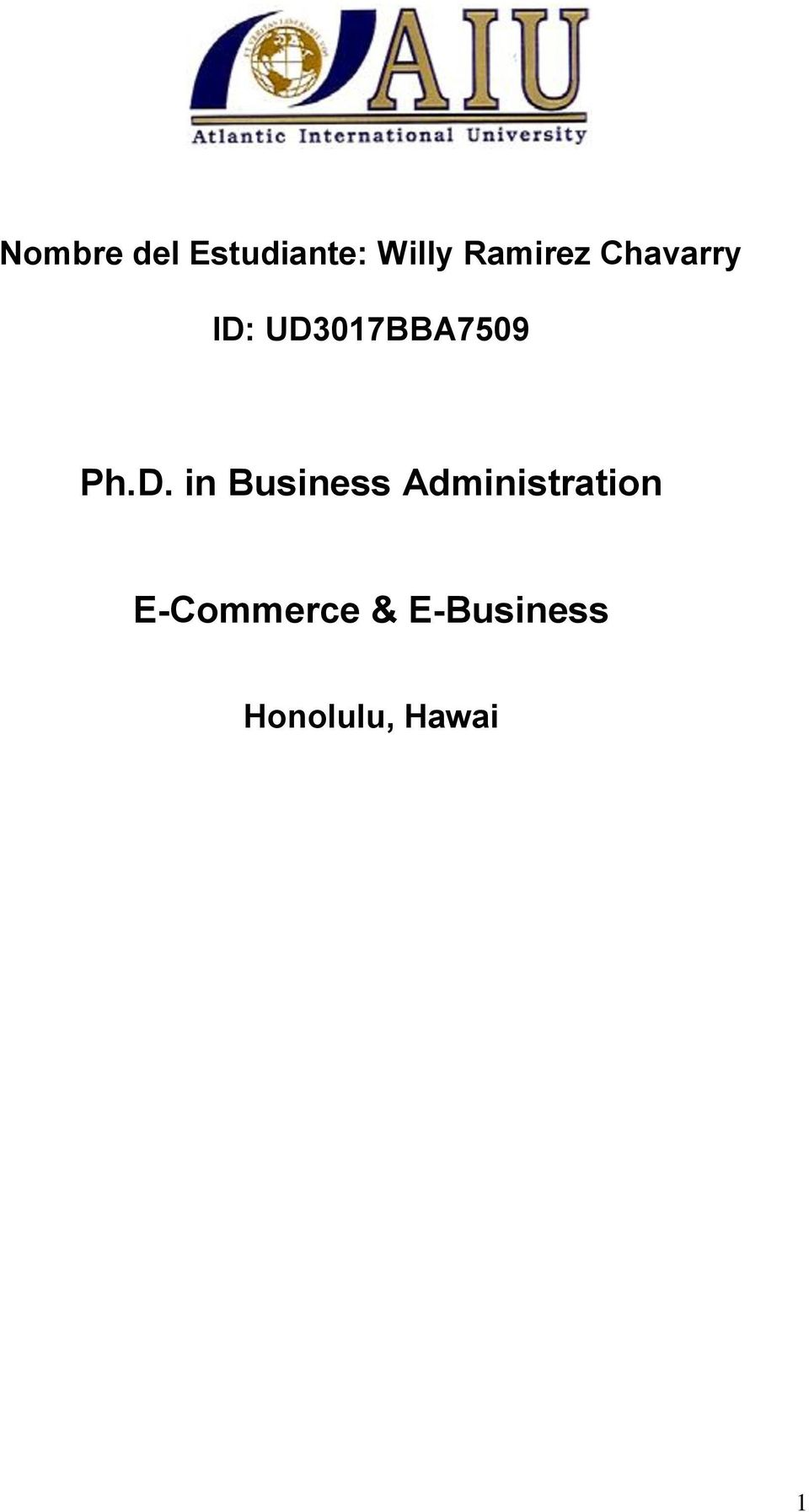 Ph.D. in Business Administration