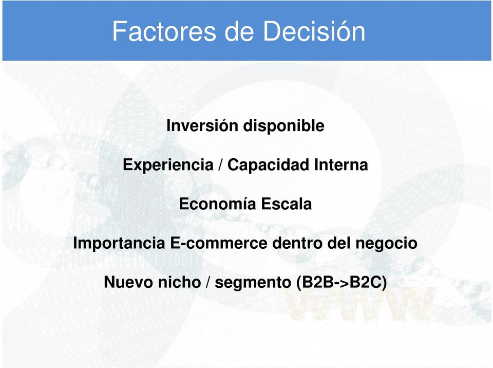Escala Importancia E-commerce dentro del