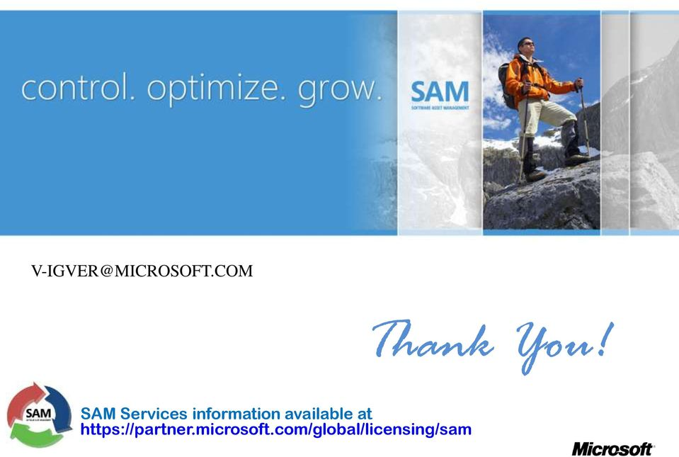 SAM Services information
