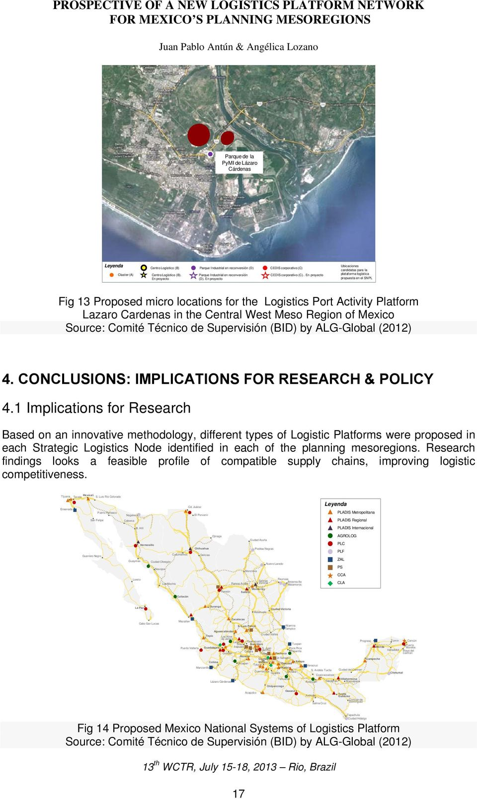 En proyecto Ubicaciones candidatas para la plataforma logística propuesta en el SNPL Fig 13 Proposed micro locations for the Logistics Port Activity Platform Lazaro Cardenas in the Central West Meso