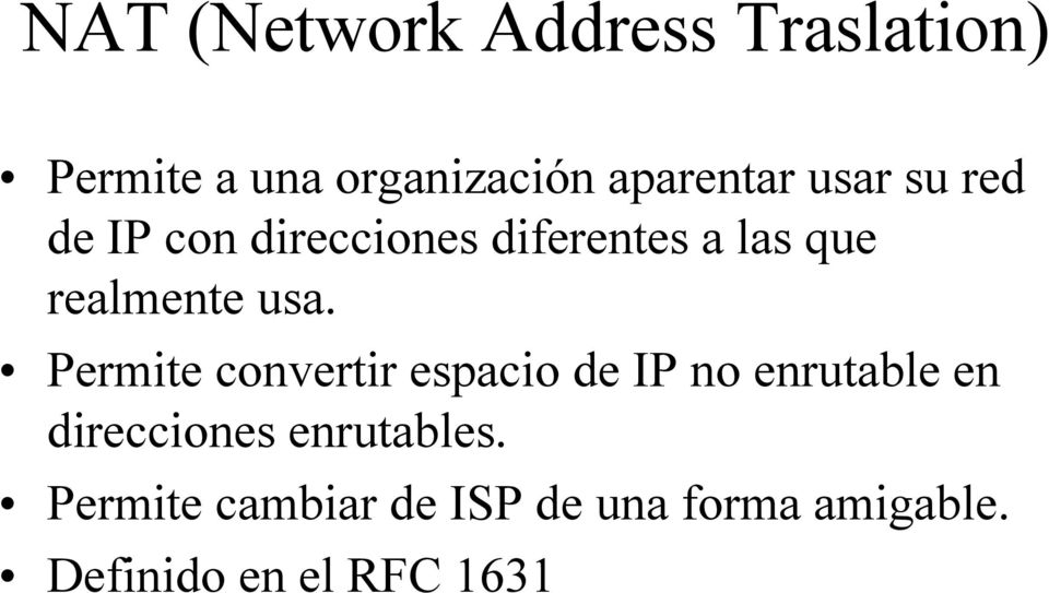 Nat network address traslation pdf - Cambiar ip usa ...