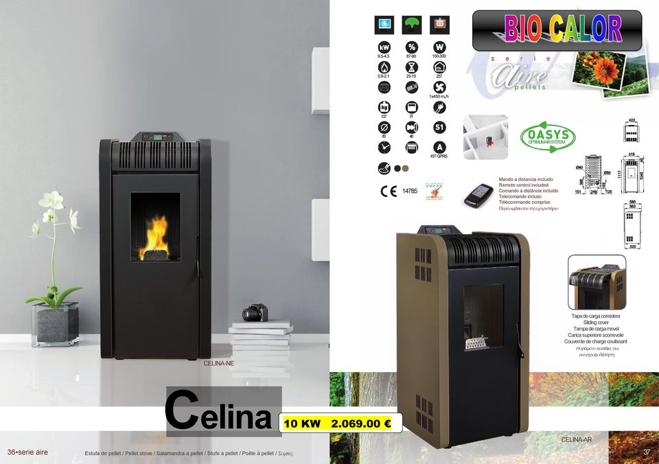 scorrevole Couvercle de charge coulissant ό ά ό Celina 10 KW 2.069.