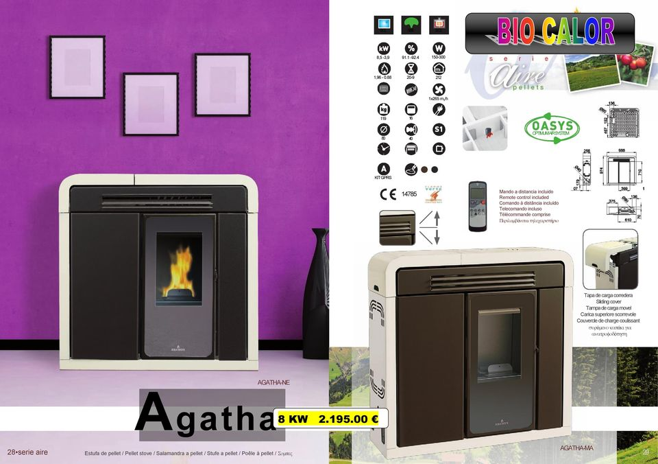 carga movel Carica superiore scorrevole Couvercle de charge coulissant ό ά ό AGATHA-NE