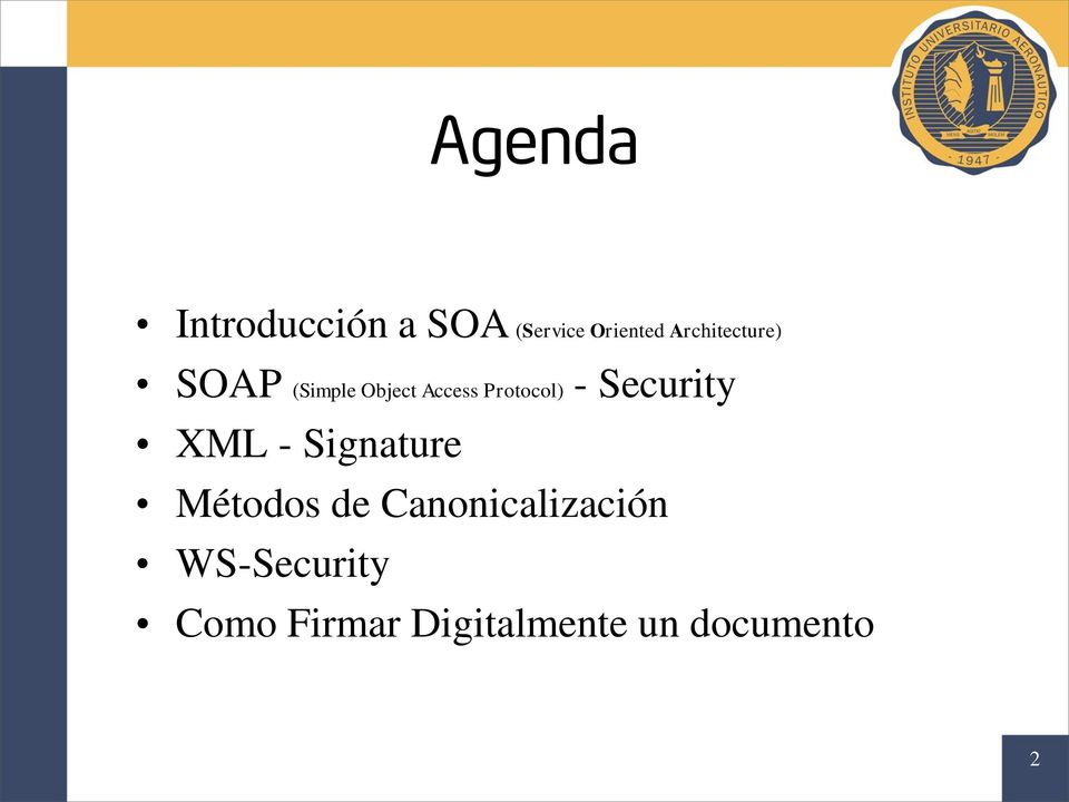 - Security XML - Signature Métodos de