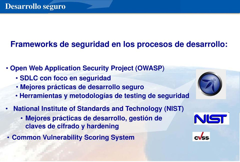 Herramientas y metodologías de testing de seguridad National Institute of Standards and Technology