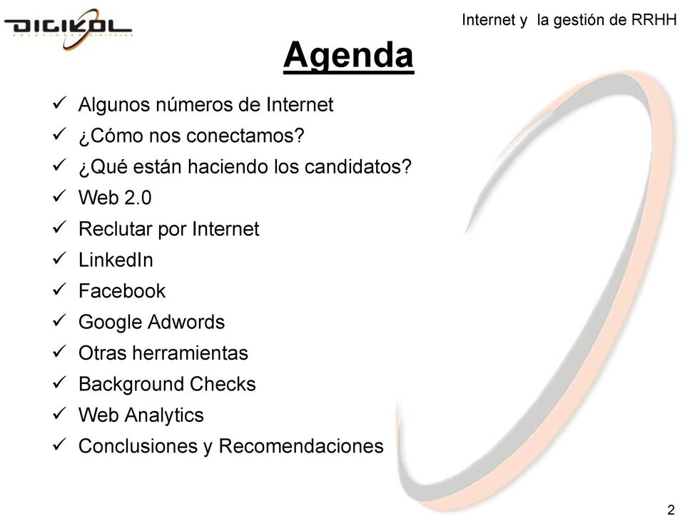 0 Reclutar por Internet LinkedIn Facebook Google Adwords Otras