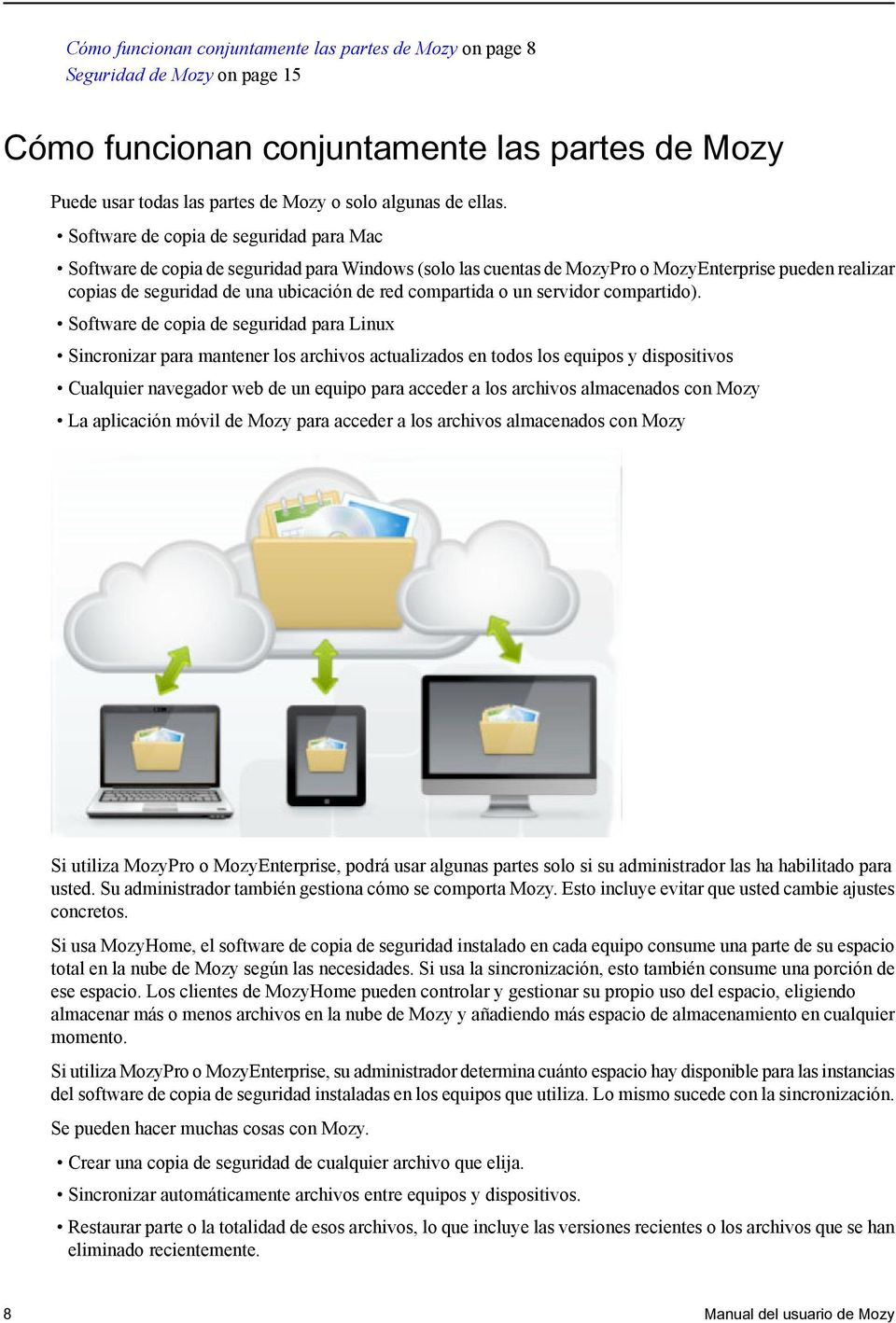 Manual del usuario de Mozy Published: - PDF