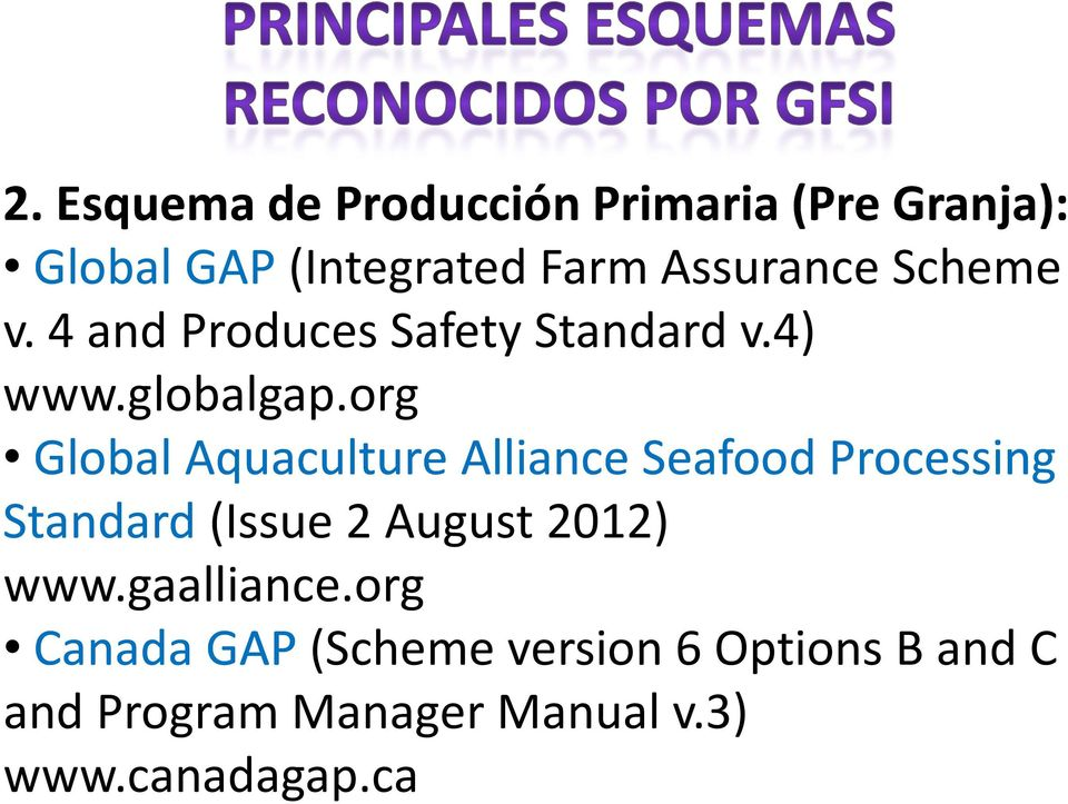 org Global AquacultureAlliance Alliance Seafood Processing Standard (Issue2