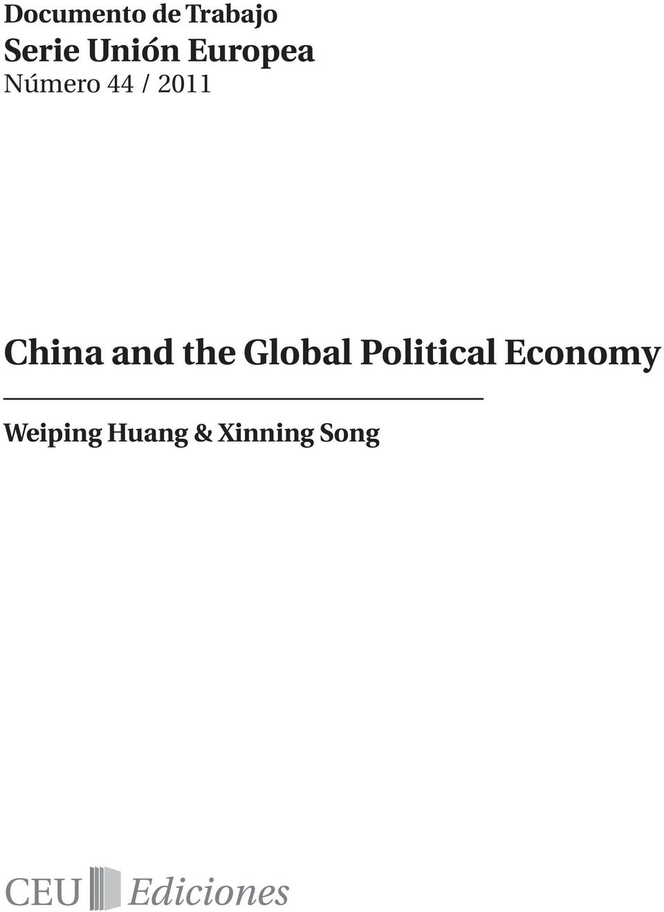China and the Global Political