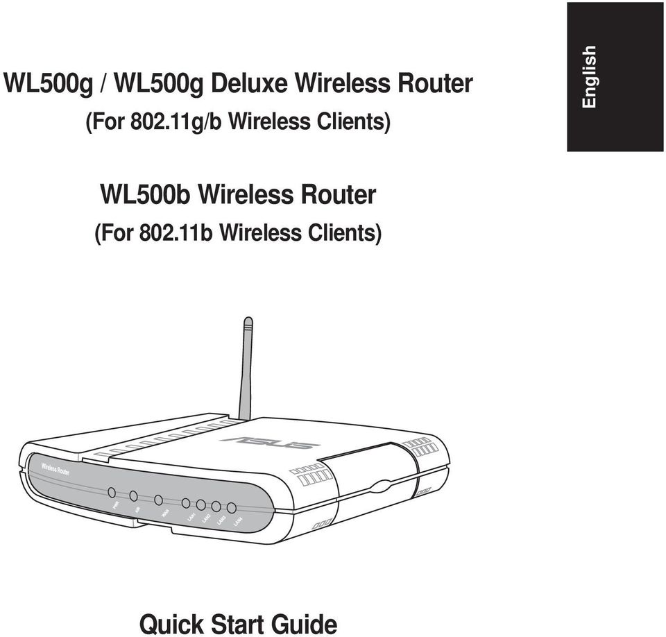 11g/b Wireless Clients) English