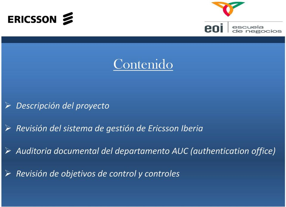 documental del departamento AUC (authentication