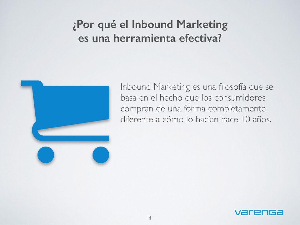 Inbound Marketing es una filosofía que se basa en el