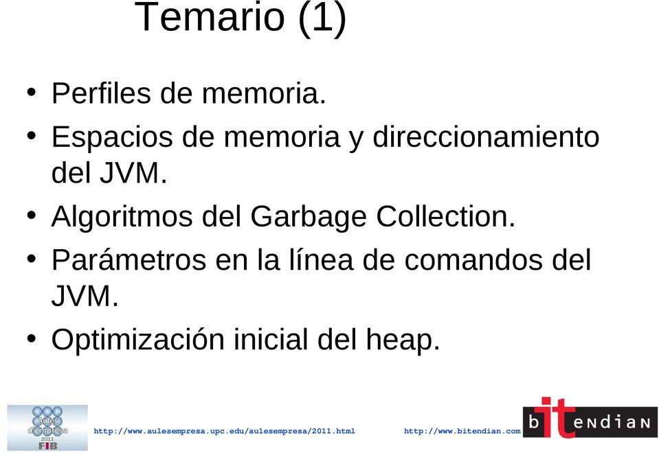 Algoritmos del Garbage Collection.