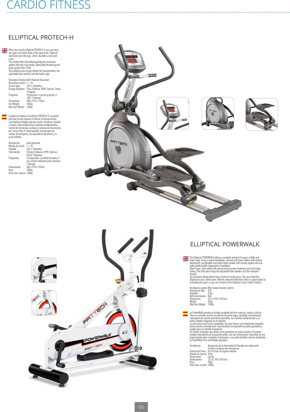 This elliptical also brings wheels for transportation, the adjustable floor levelers and the bottle cage.