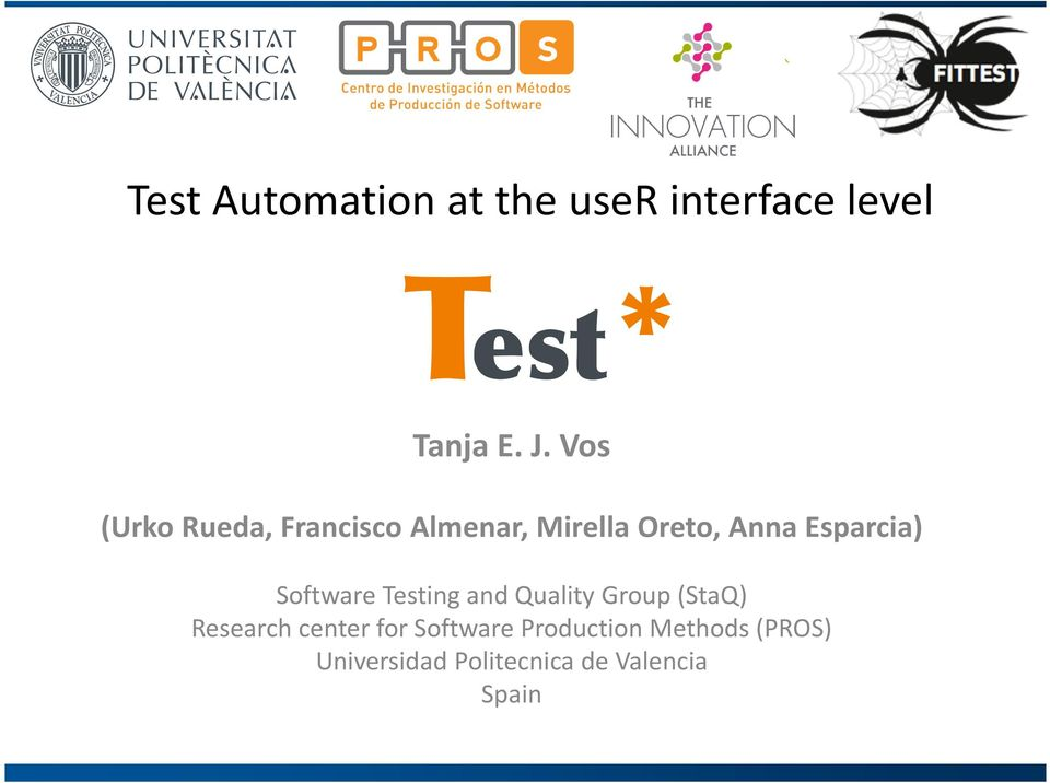 Esparcia) Software Testing and Quality Group (StaQ) Research