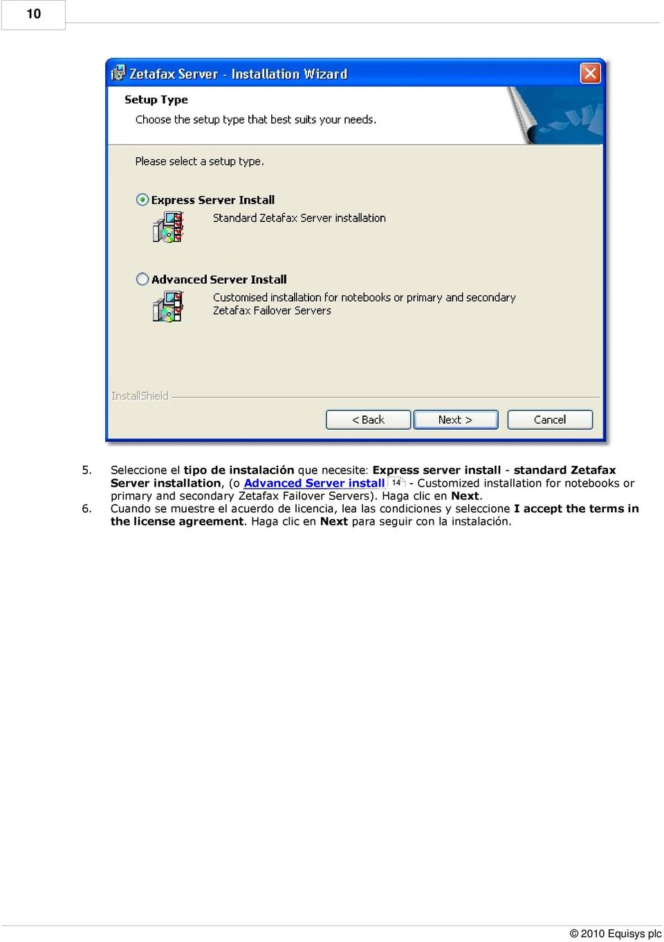installation, (o Advanced Server install 14 - Customized installation for notebooks or primary and
