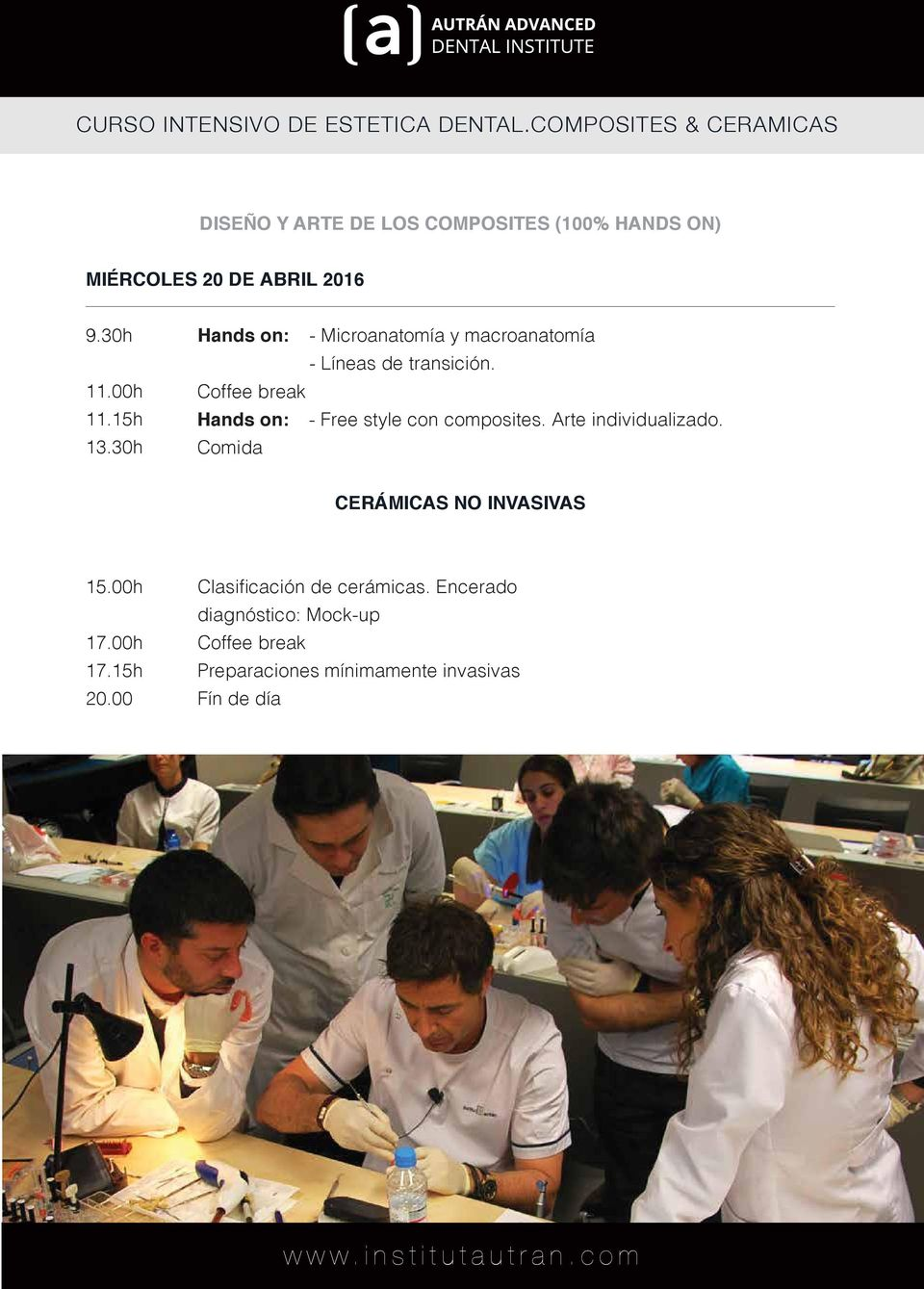15h Hands on: - Free style con composites. Arte individualizado. 13.