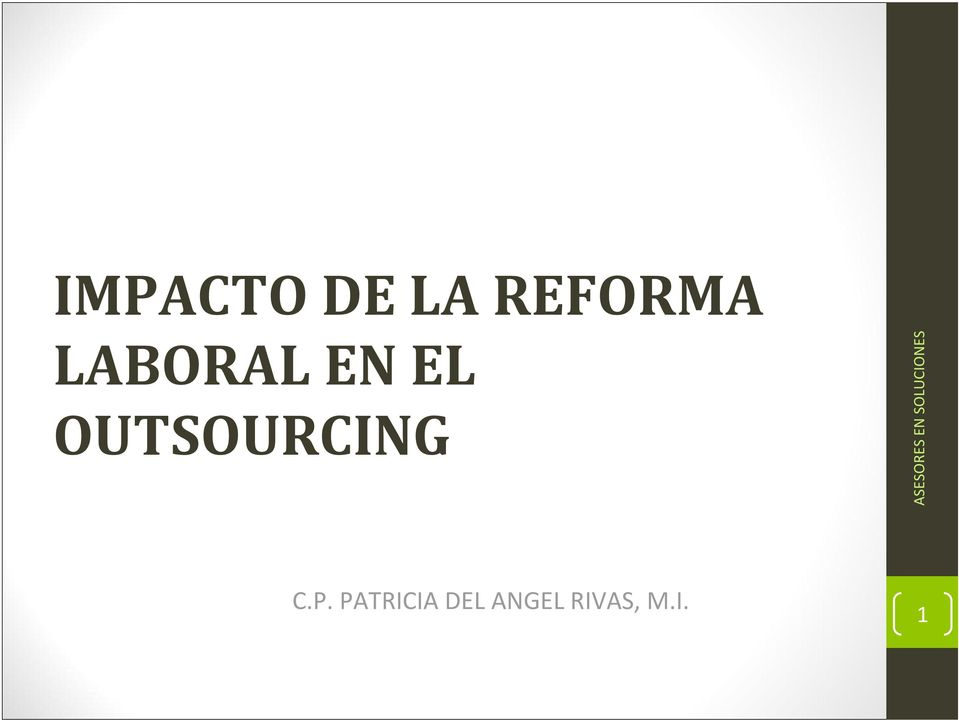 OUTSOURCING C.P.