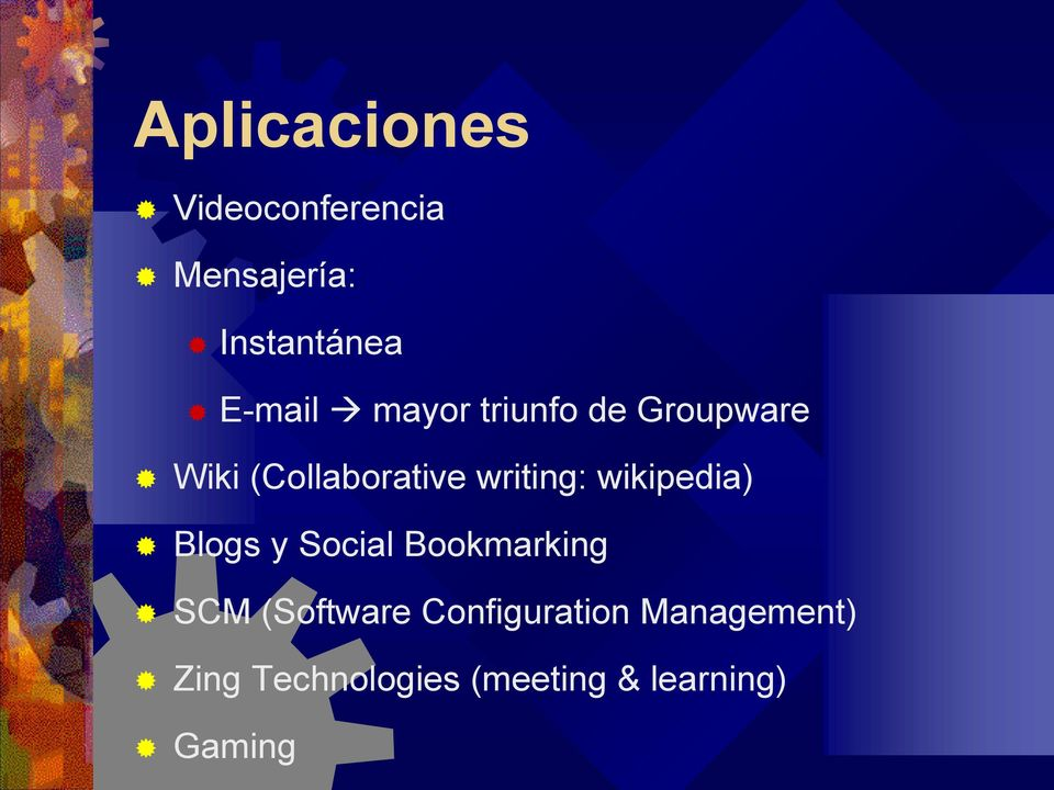 writing: wikipedia) Blogs y Social Bookmarking SCM