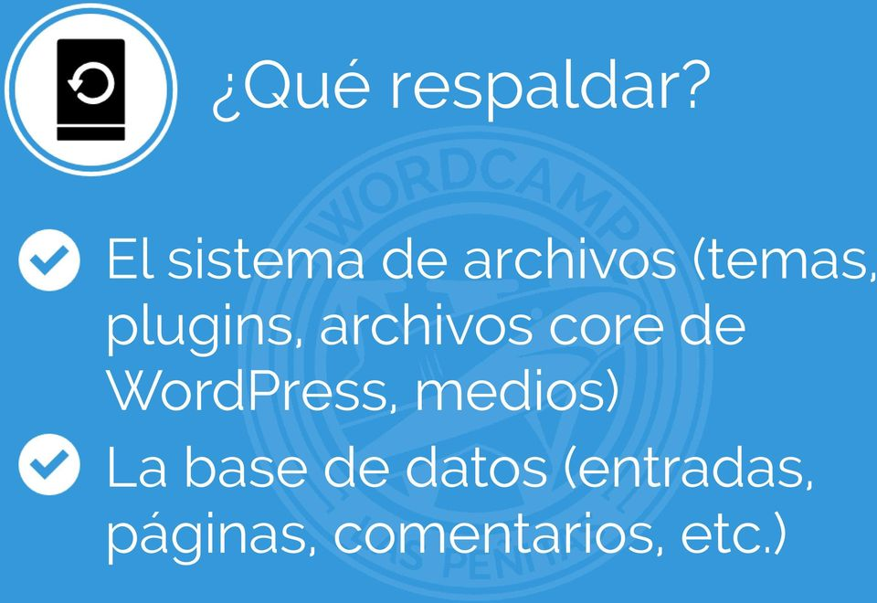 plugins, archivos core de WordPress,
