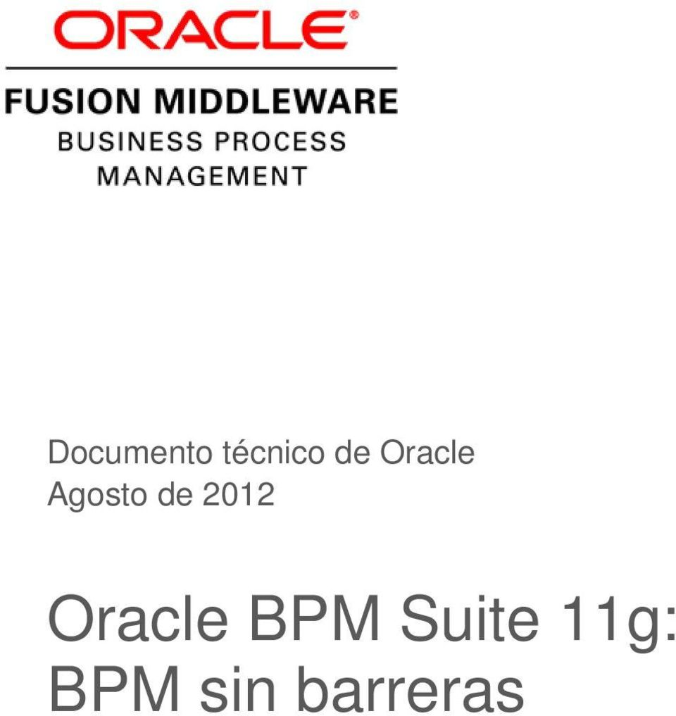 2012 Oracle BPM
