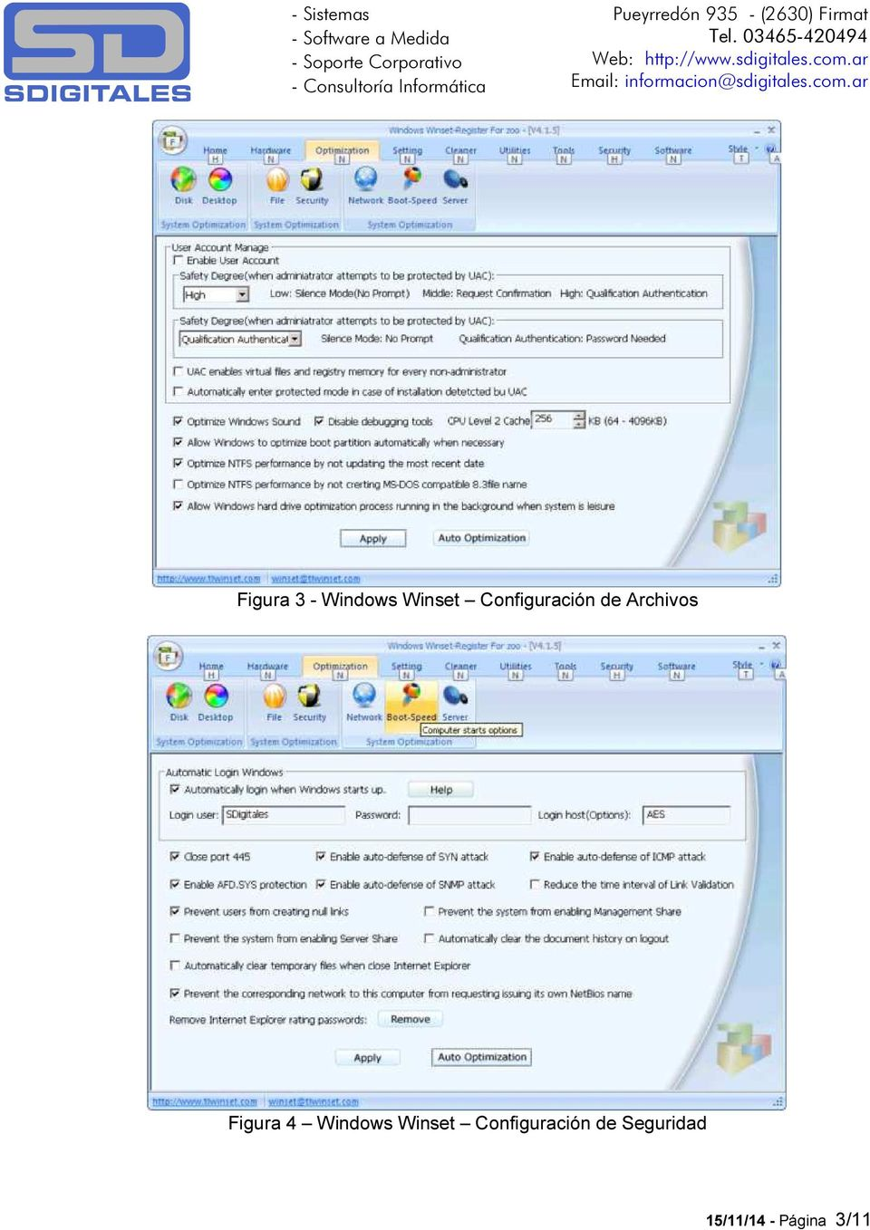 Figura 4 Windows Winset