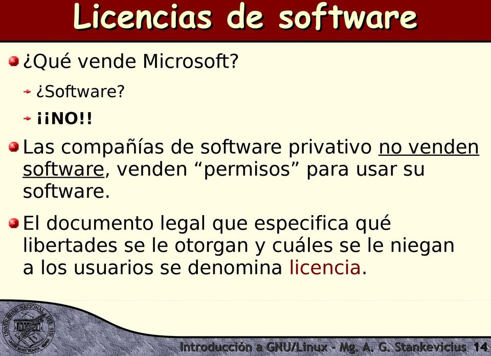 usar su software.