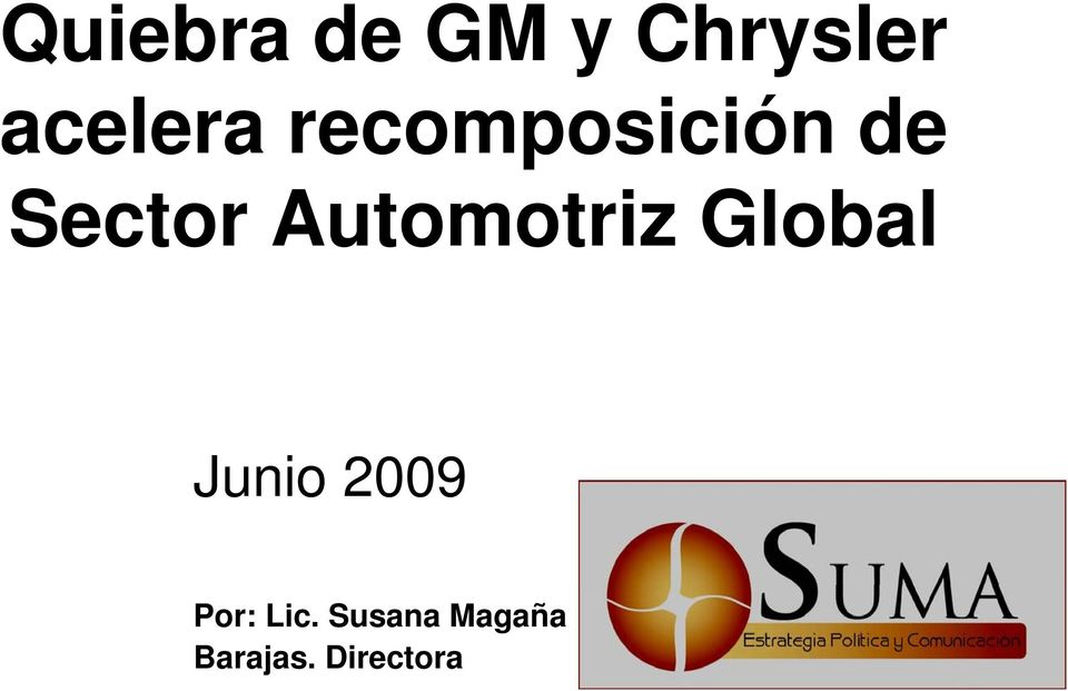 Automotriz Global Junio 2009