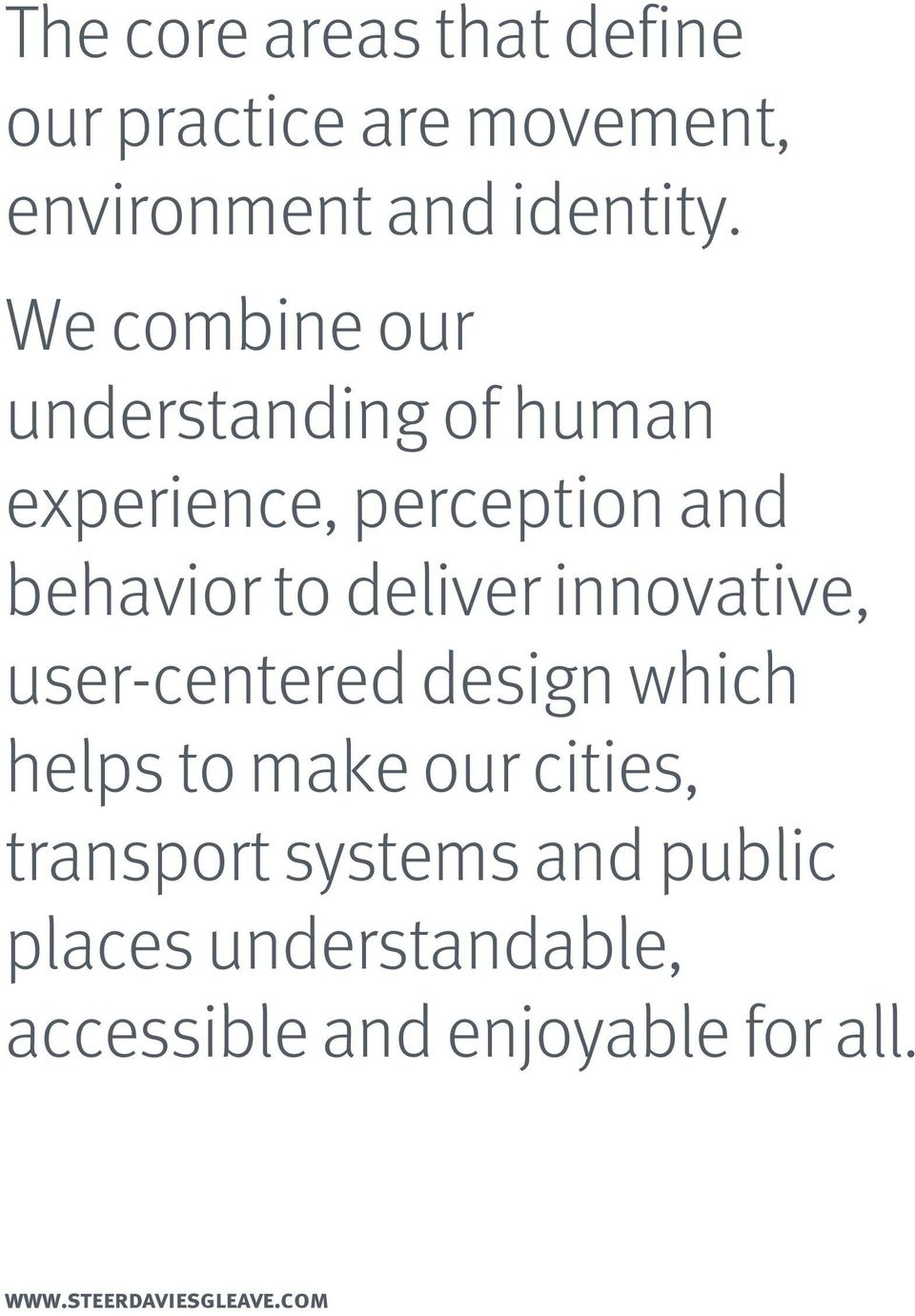 innovative, usercentered design which helps to make our cities, transport systems