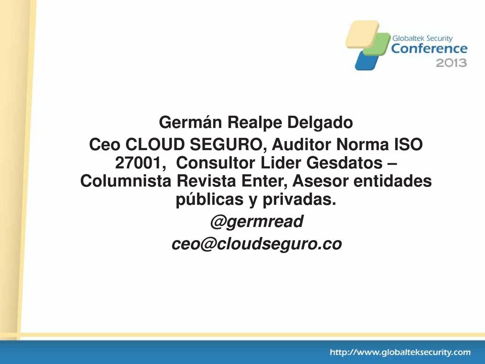 Gesdatos Columnista Revista Enter, Asesor