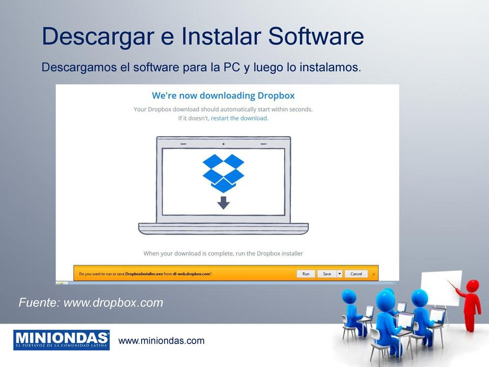 software para la PC y luego