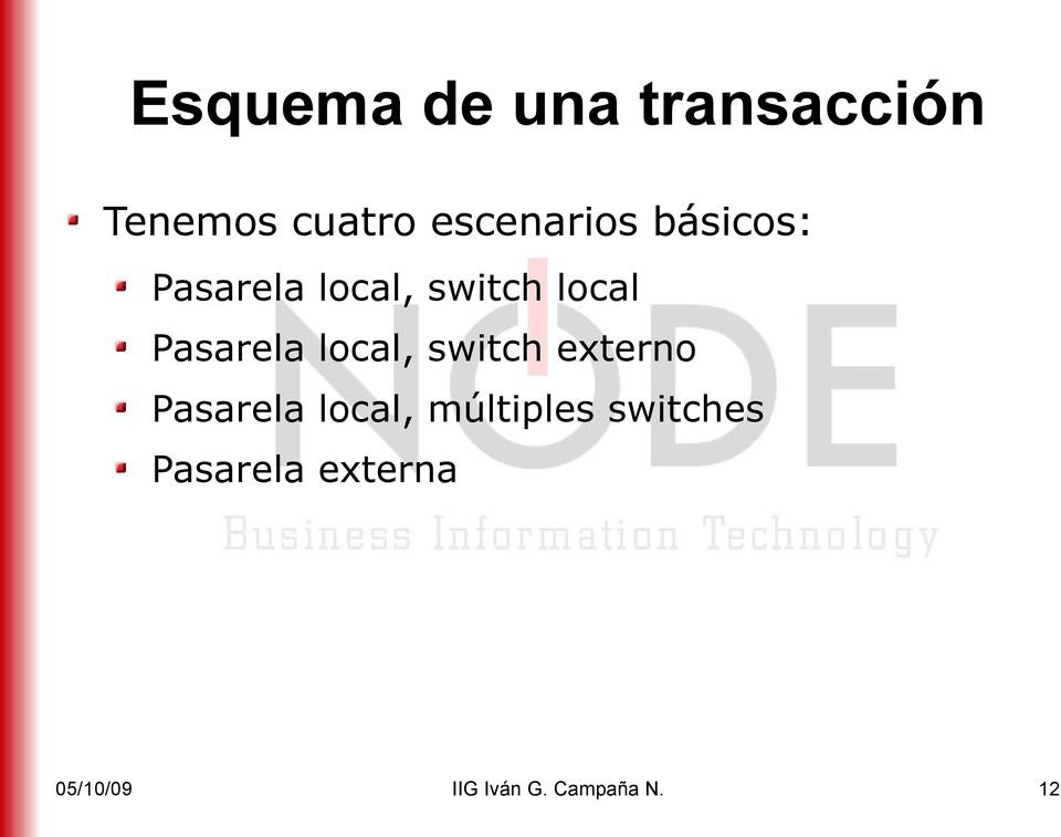 Pasarela local, switch externo Pasarela local,