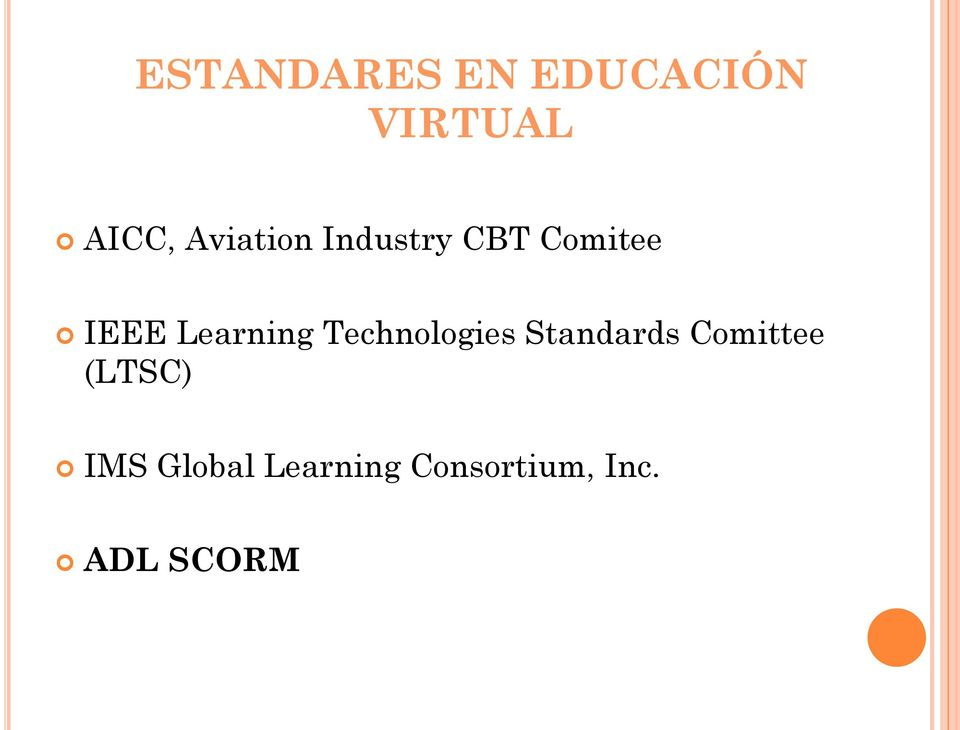 Learning Technologies Standards Comittee