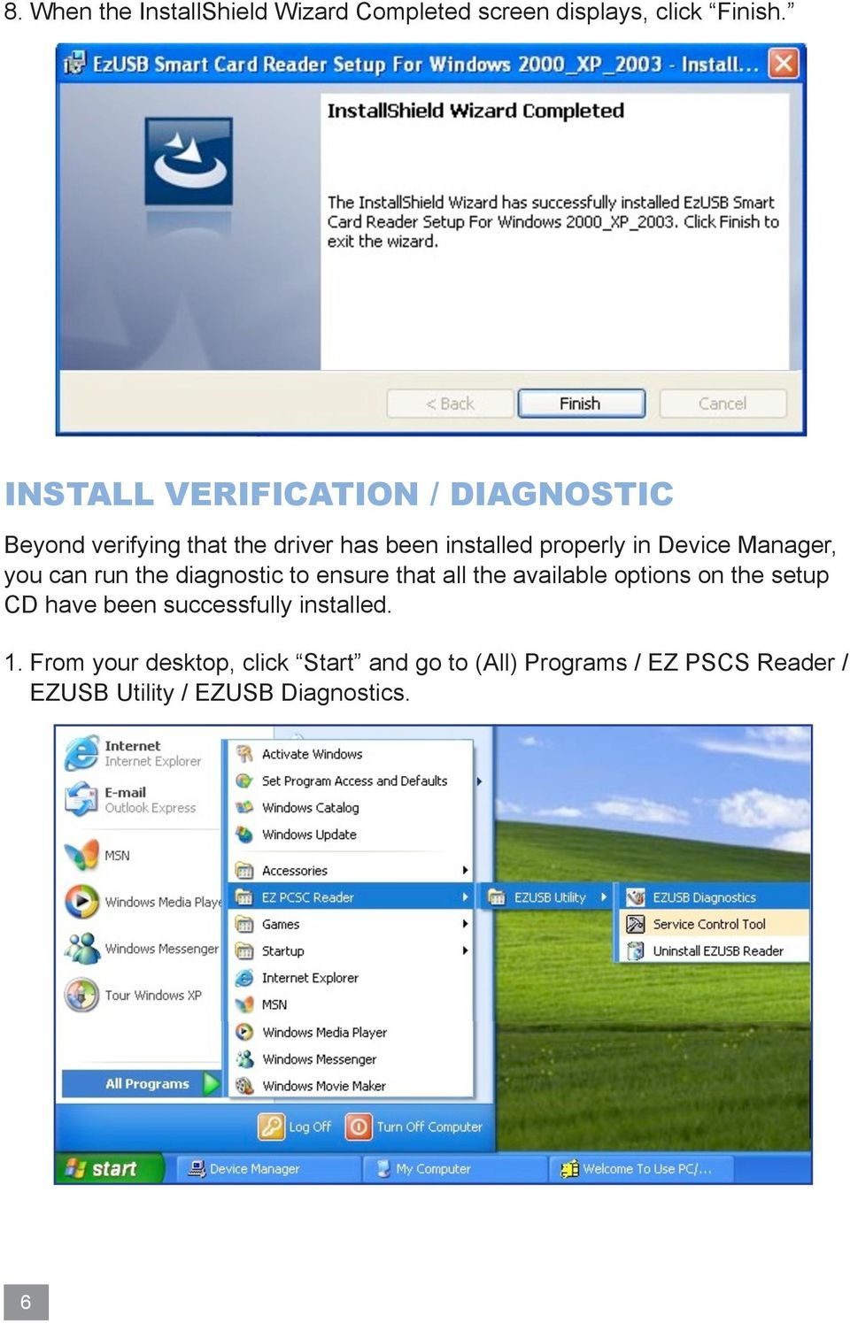 Manager, you can run the diagnostic to ensure that all the available options on the setup CD have been