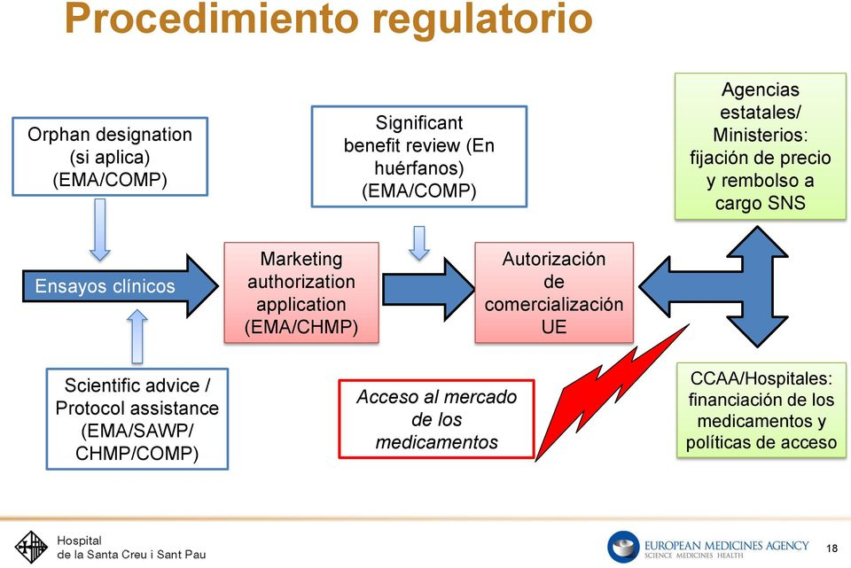 authorization application (EMA/CHMP) Autorización de comercialización UE Scientific advice / Protocol assistance