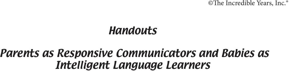 Communicators and