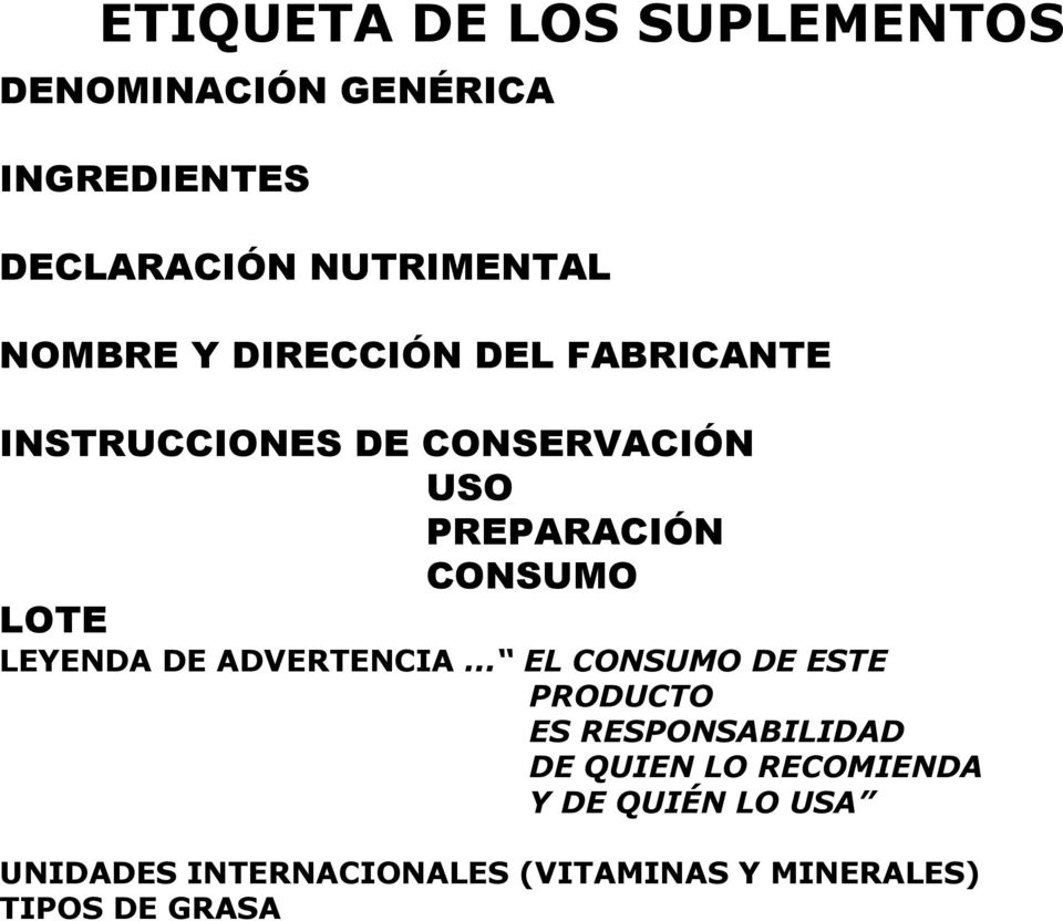 LOTE LEYENDA DE ADVERTENCIA.